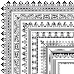 Ornamental corner border made of multiple frames
