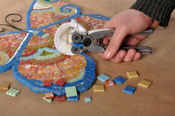 Manufacturing of a mosaic