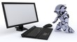 Robot with computer