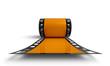 3D Filmrolle - Orange Frontal Ansicht