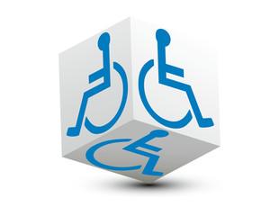 cube handicapé