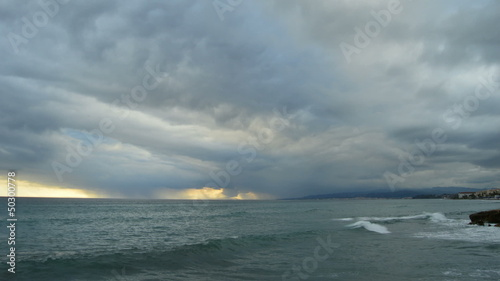 Storm, timelapse in the sea