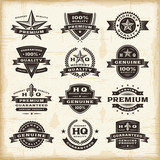 Vintage premium quality labels set