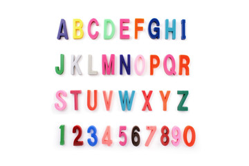 Alphabet colored