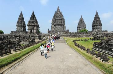 sito archeologico hindu di Prambanan sull'isola di Java