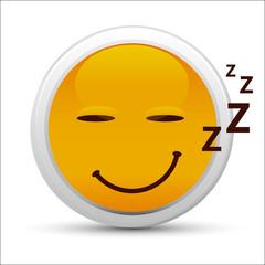 Picto Emoticône qui dort