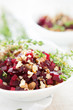 beet salad with crushed walnuts