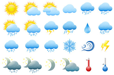 Color weather icons