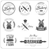 Fototapety Set of bakery labels, badges and design elements