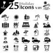 Holiday icons set, basic series