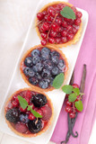Fresh cakes with berries