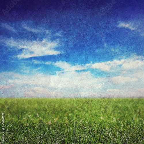 grunge sky and grass