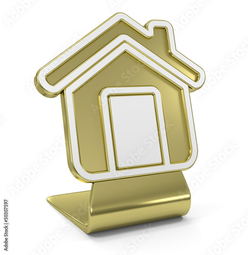 Home Golden Icon