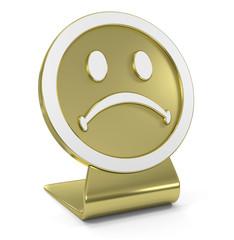 Sad Face Golden Icon