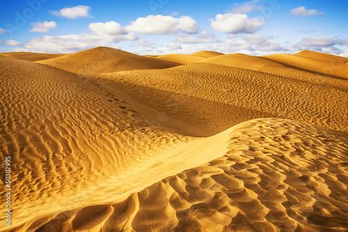 In de dag Tunesië Sahara desert - Douz, Tunisia.