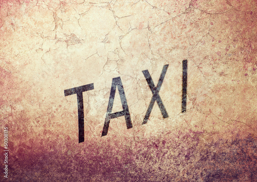 grunge taxi