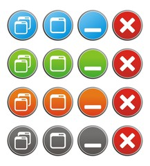 maximize minimize circle buttons