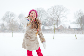 girl loves wintertime