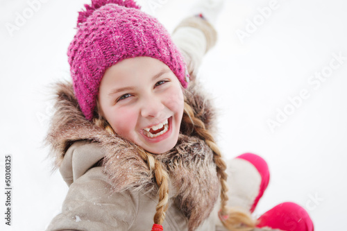 girl loves wintertime
