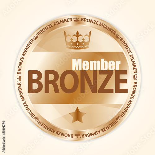 Bronze member badge with royal crown and one star