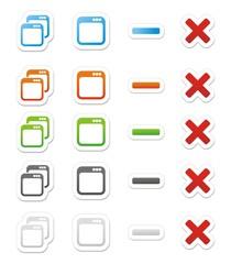 maximize minimize stickers