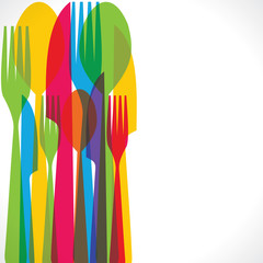 Colorful fork  background stock vector