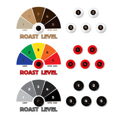 Collection of  styled coffee labels
