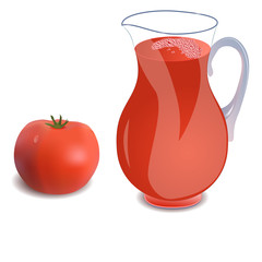 A  jug of tomato juice
