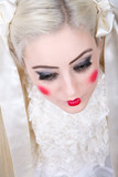 Girl with a dolly makeup