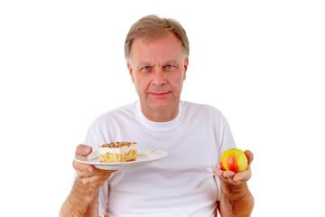 Apfel oder Kuchen