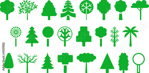 Set of vectorized trees