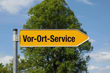Gelber Pfeil mit Baum VOR-ORT-SERVICE