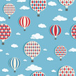 hot air balloons pattern