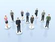 Business Netzwerk - Verbindungen und Kontakte