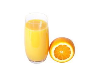 saft, trinken, orange