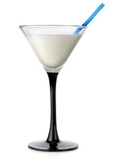 Milk cocktail in a high glass