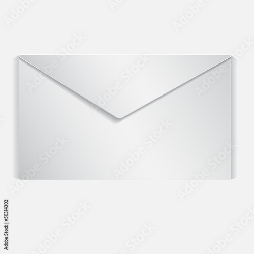 Realistic illustrated letter