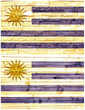 Vintage wall flag of Uruguay collage