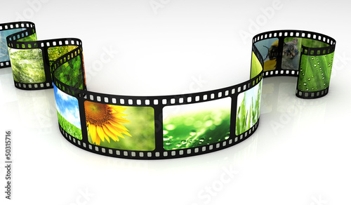 Filmstrip with images