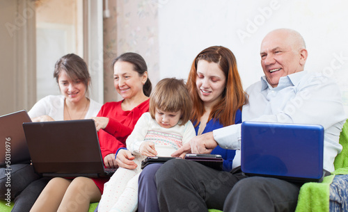 family uses   electronic devices together