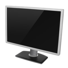 Modern computer display isolated on white with clipping path