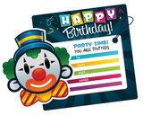 Birthday Invitation with Clown