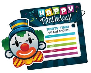 Birthday Invitation with Clown