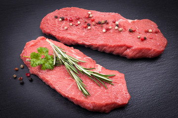 Fresh beef steak
