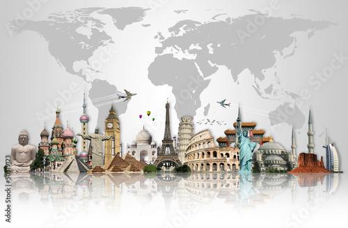 Keuken foto achterwand Centraal Europa Travel the world monuments concept