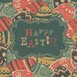 Vintage easter greetings. Vector, EPS10