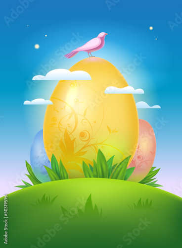 Happy Easter design.