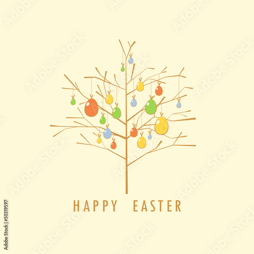 Easter tree card.