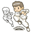 Taekkyeon is a form of traditional Korean martial art. Sports Ch