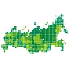 ロシア 地図 モザイク